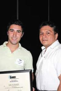 Luis Escalante de DuPont demostró ser un joven con mucho futuro dentro del sector