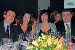 Rubén Yantorno, Betina Maya, Fatima y Silvio Partiti (Exal Brasil)