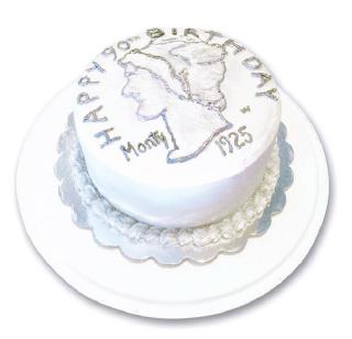 Un exquisito pastel para quien ha dedicado su vida al aerosol.